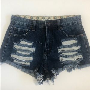 Forever 21 high waist cheeky shorts destroyed